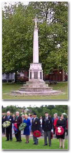 War memorial and ceremony